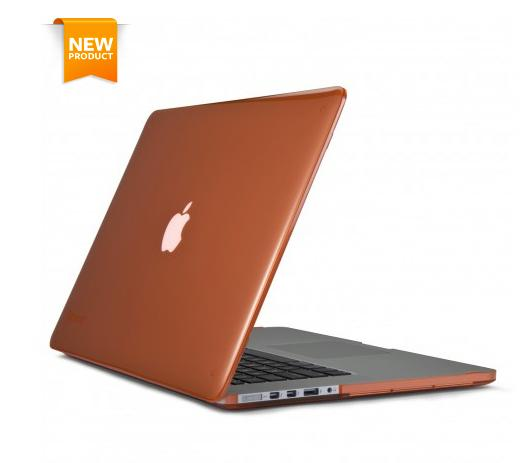SPECK Case for macbook pro retina 15 สีส้มใส สี wild salmon