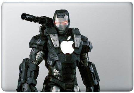 สติ๊กเกอร์ Iron Man 04 sticker  Decal for macbook 15 inch