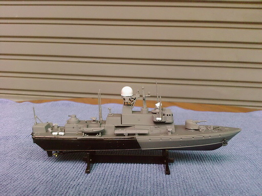 Pauk II Corvette 1/400 finished by Modelivery