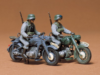 German BMW R75 / Zundapp KS750 1/35 Tamiya
