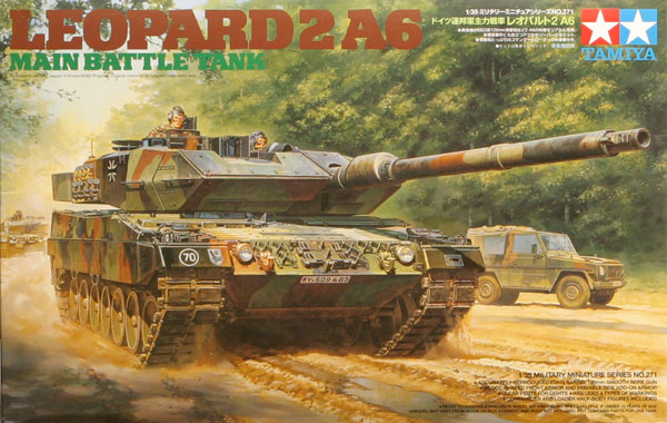 Leopard 2 A6 Main Battle Tank 1/35 Tamiya