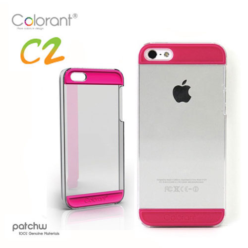 Patchworks colorant case c2 for iphone 5 - clear x pink - l-case022