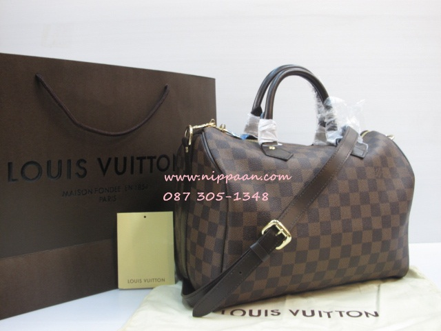 415e6ced43 LV Speedy Bandouliere 30 Damier Ebene With Shoulder Strap Top Quality of  Replica - คลิกที่
