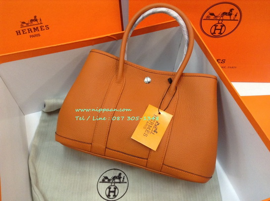 Hermes Garden Party 30cm Togo Leather in Potiron #5982544