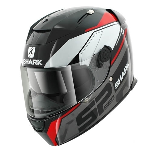 SHARK SPEED-R 2 SAUER Black Anthracite Red