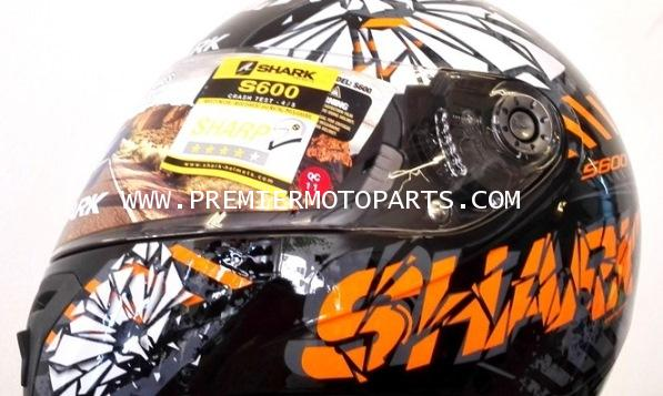 Shark Helmets S600 POONKY Black orange