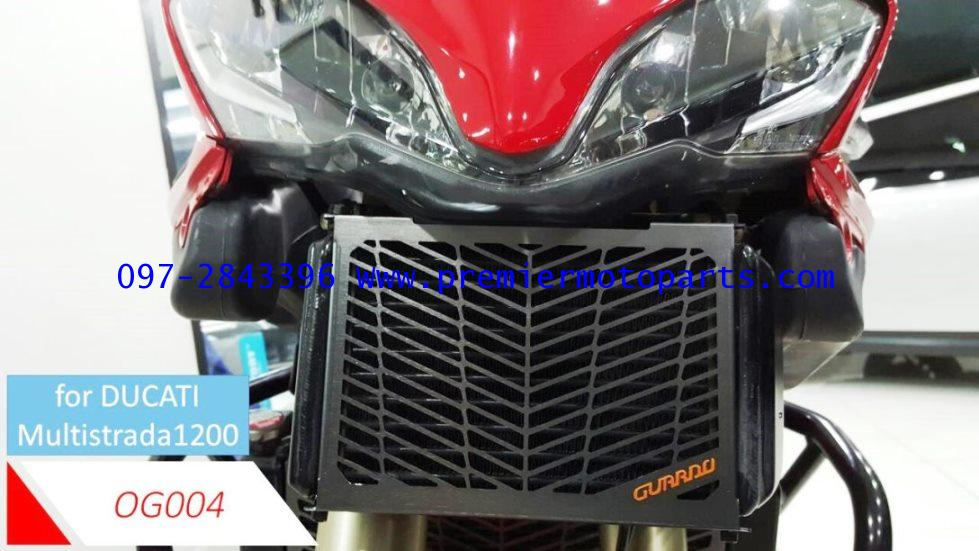 การ์ดหม้อน้ำ GUARDO Oil Cooler Guards OG004 FOR DUCATTI MULTISTRADA 1200