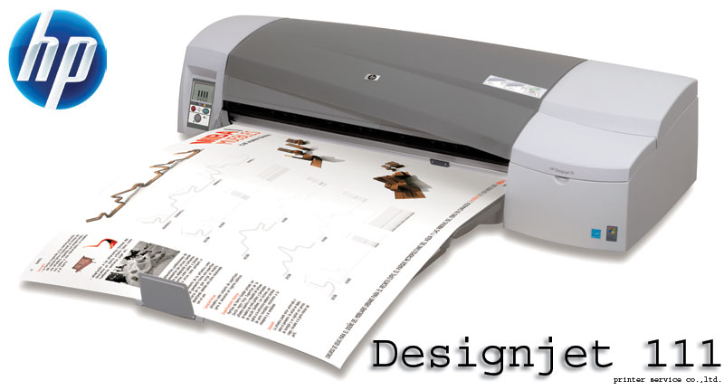 hp designjet 111 24 inch printer with tray cq533a 3050816. Black Bedroom Furniture Sets. Home Design Ideas