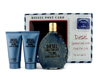 น้ำหอม Diesel Fuel for Life Denim Collection Homme 75 ml. + Shower Gel 50ml + After Shave Balm 50ml