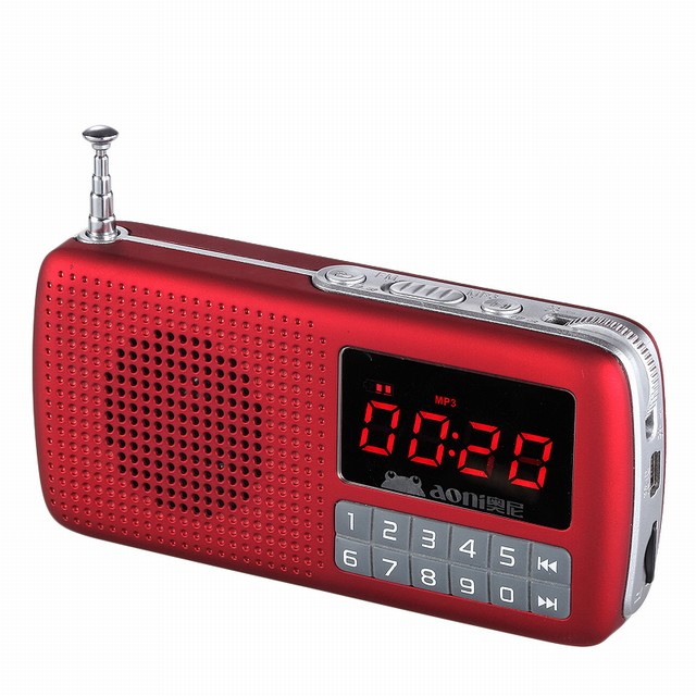 Aoni T810 Mini Portable FM Radio  MP3 Player