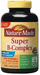 nature made super B complex with vitamin cfolic acid 460เม็ด