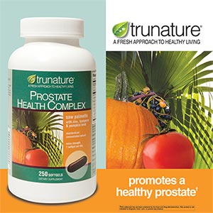 trunature Prostate Health Complex 250 softgels Saw Palmetto with Zinc, Lycopene  Pumpkin Seed