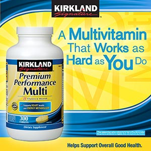 Kirkland Signature Premium Performance Multi Vitamins 300เม็ด
