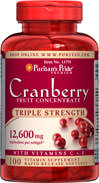 Triple Strength Cranberry Fruit Concentrate 12600 mg. 100 Softgels