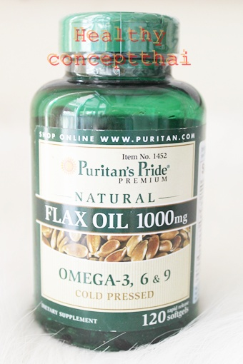 flax oil1000mg.with omega3-6-9120 liquid softgels,puritan