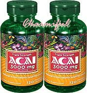 ACAI 3000mg.120 rapid release liquid softgels