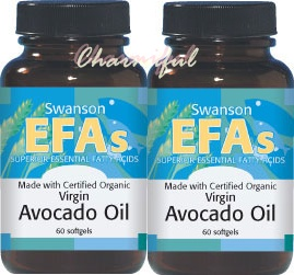 ซื้อ 2 ถูกกว่า Swanson EFAs Avocado Oil 1 g.60softgels , Certified Organic