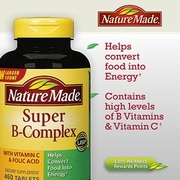 nature made super B complex with vitamin c  folic acid 460 เม็ด ส่งฟรี