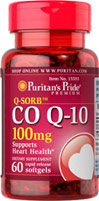 Puritans Pride  Co Q-10 100 mg.60 Softgels คิวเท็น