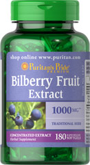 Puritans Pride  Bilberry 1000 mg 1000 mg  180 Softgels