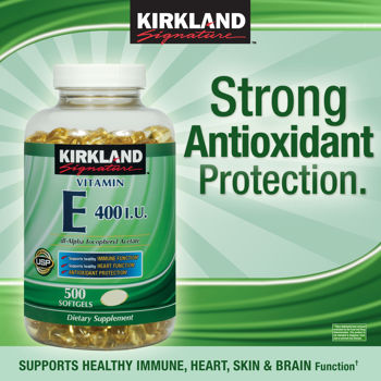 kirkland vitamin E 400IU. 500 softgels