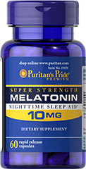 Puritans Pride Melatonin 10 mg.60 capsules