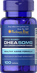 Puritans Pride DHEA 50 mg.100 Tablets