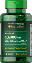 Puritans Pride Myoleptin CLA 1000 with White Kidney Bean 90 Softgels
