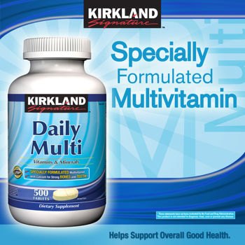 Kirkland Signature Daily Multi, 500 Tablets