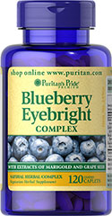 Puritans Pride Blueberry Eyebright Complex 120 Caplets