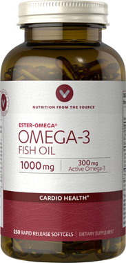 Vitamin World Omega-3 Fish Oil 1000 mg.250softgels