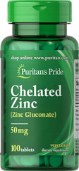 puritan pride Zinc Chelate 50 mg.100tablets