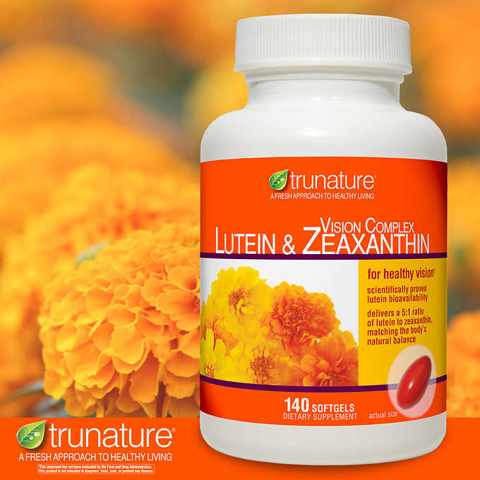 trunature Vision Complex Lutein  Zeaxanthin, 140 Softgels