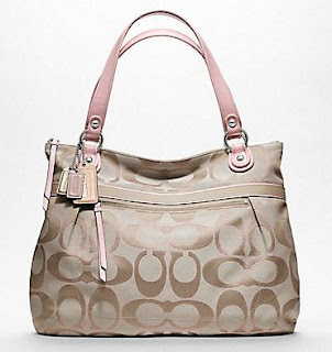 กระเป๋า Coach Poppy Metallic Signature Sateen Glamour Tote