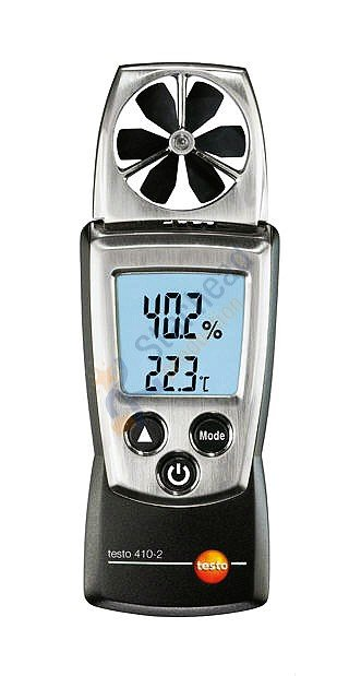 Testo 410-2 handy vane probe anemometer, Wind speed air flow VelocityTemperature
