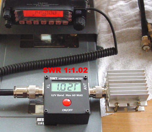 SWR และ WATTS METER ระบบ DIGITAL 100MHz-500MHz และ 2MHz-50MHz 2