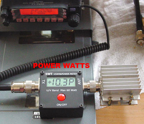 SWR และ WATTS METER ระบบ DIGITAL 100MHz-500MHz และ 2MHz-50MHz 3