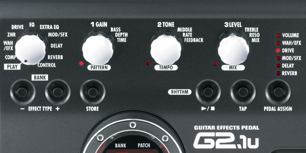 zoom guitar effects pedal g2 1u manual