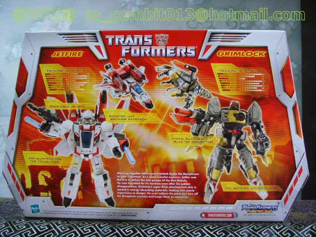 TRANSFORMER CLASSIC DX กล่องคู่ GRIMLOCK + JETFIRE [SOLD OUT]