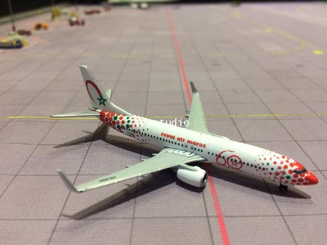 HERPA WINGS 1:500 Royal Air Maroc 737-800 60th CN-RGV HW531153