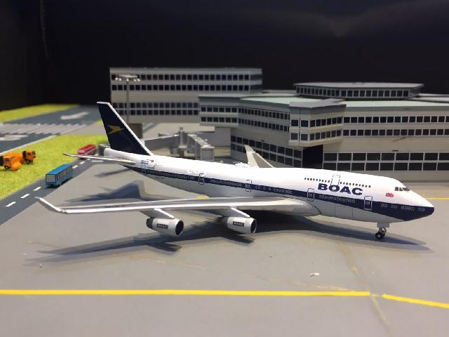 HERPA WINGS 1:500 British 747-400 100th BOAC G-BYGC HW533317