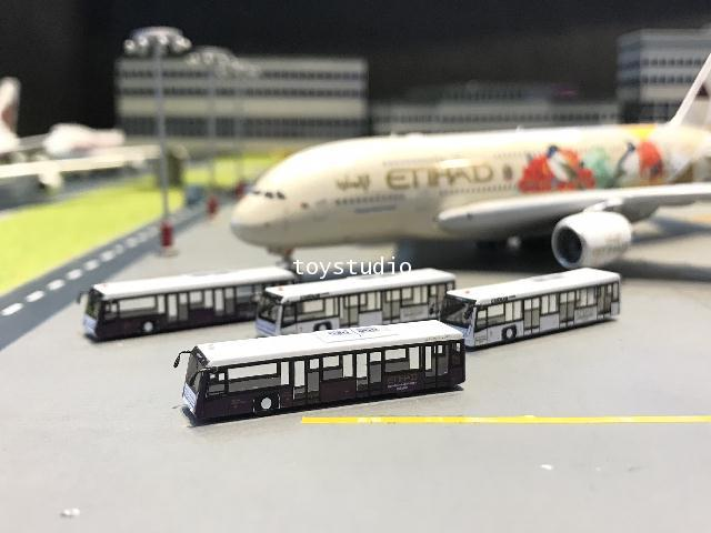 FantasyWings 1:400 Etihad Airport Bus X 4 AA4005