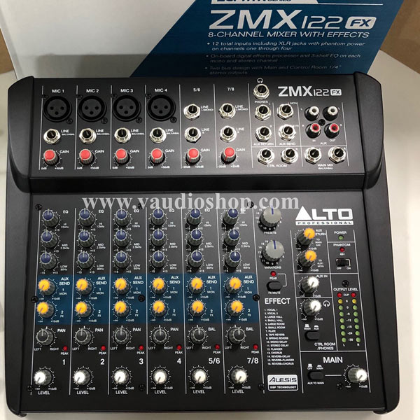 MIXER ALTO ZEPHYR ZMX122FX (8-Channel Compact Mixer with Effects)
