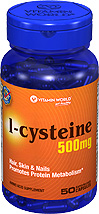 (Out of Stock)L-Cysteine 500 mg (Vitamin world 100) 50 Capsules