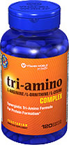 Tri-Amino L-Arginine L-Ornithine L-Lysine 120 Coated Tablets (Vitamin world 3941) (พร้อมส่ง)เพิ่มสูง