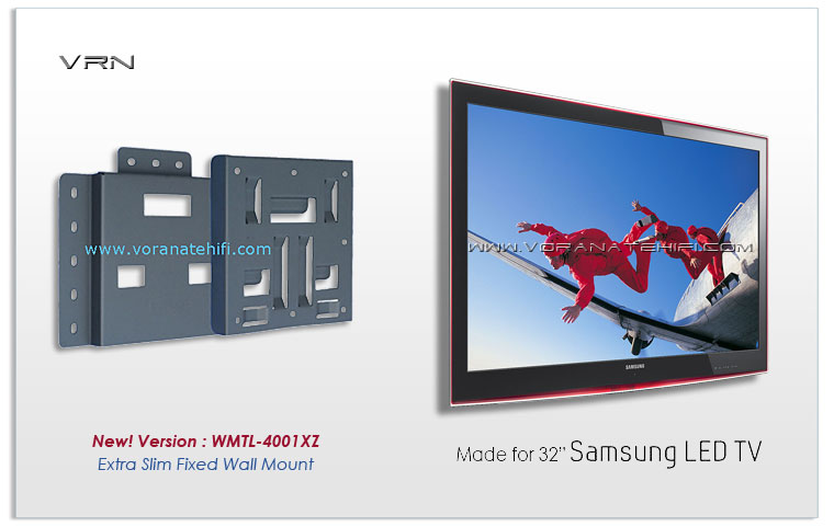 fixed wall mount for 32 40 inch samsung led tv wmtl4001xled 934838. Black Bedroom Furniture Sets. Home Design Ideas