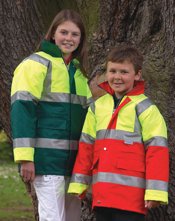 childrens high visibility two tone jacket