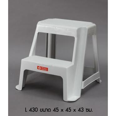 บันได 2 ชั้น L 430 สีขาว