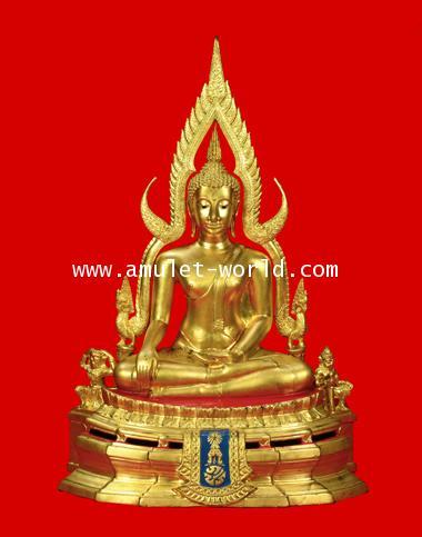 พระพุทธชินราช ภปร. กองทัพภาคที่3 ในหลวงเสด็จทรงเททอง ปี2517 หน้าตัก 9 นิ้ว ปิดทอง