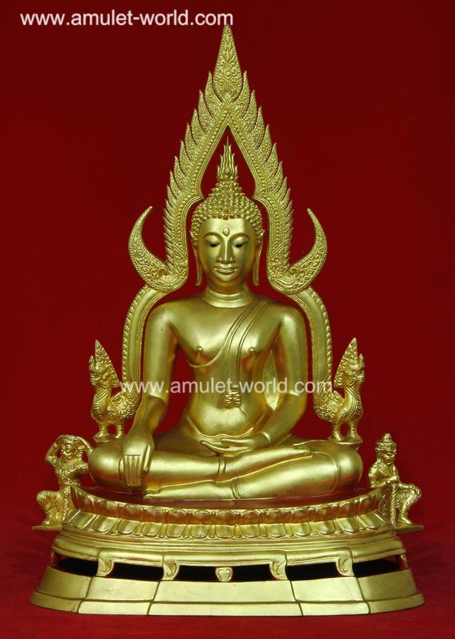 พระพุทธชินราช พิธีมหาจักรพรรดิ์ วัดใหญ่ จ.พิษณุโลก ปี2515 หน้าตัก 9 นิ้ว ปิดทอง
